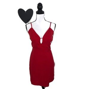 Lulumari Red Cocktail Dress Large